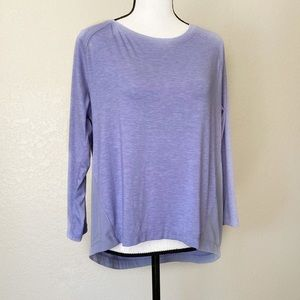 Champion Purple Long Sleeve Athletic Shirt Size L